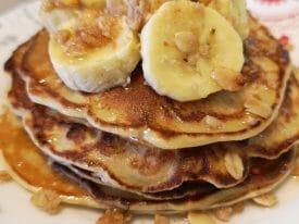 Oat Flour Banana Pancakes
