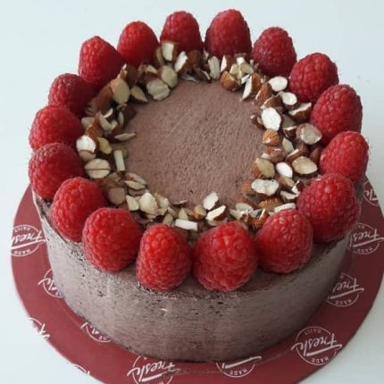 Nutty Raspberry Flourless Chocolate Cake